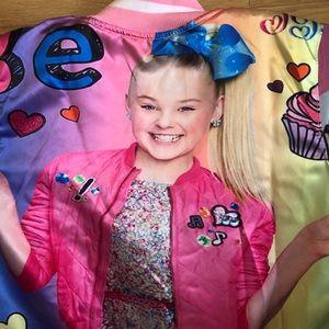JoJo Siwa girls bomber varsity jacket